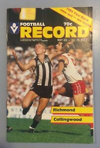 RICHMOND V COLLINGWOOD ROUND 6 1985 MAY 4 VFL RECORD TIGERS V MAGPIES
