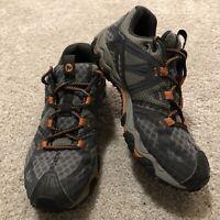 Merrell Shoes J24725 Mens Grassbow Air Hiking Shoes Dark Grey Orange Size 8