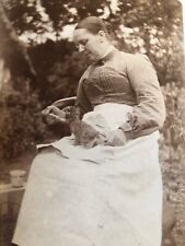 Rppc Postcard Antique Photo Peter Rabbit Tea Time Circa Early 1900's Baby Bunny
