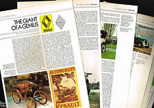 Vintage RENAULT Cars/Auto Article/Photos/Pictures: R16TX,R5,17TS,<Brochure Info>