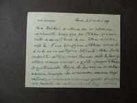 Autografo Tito Zaniboni Socialista massoneria Attentato Mussolini 1925 storica