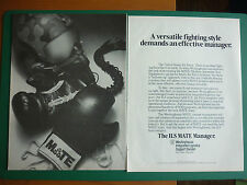 10/86 PUB WESTINGHOUSE USAF MATE MODULAR AUTOMATIC TEST EQUIPMENT GANT BOXE AD