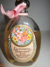 Vintage California Perfume Anniversary Bottle In The Box - By Avon - 85% Full