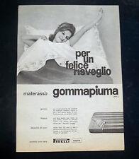 A035-Advertising Pubblicità-1960-MATERASSO GOMMAPIUMA - PIRELLI