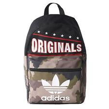 adidas Originals Kinder Rucksack Jungen Schule Reise Tasche Camouflage Schwarz