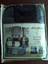 Eddie Bauer Car Seat Protector Black And Gray Carrying Bag Toy Tote