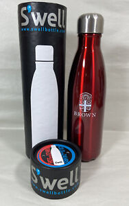 Brown University S'well Insulated Bottle 17 oz 500 ml Rowboat Red Shimmer Finish