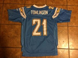 San Diego Chargers LaDainian Tomlinson Youth Large Fits Sizes 14/16 SEWN Jersey