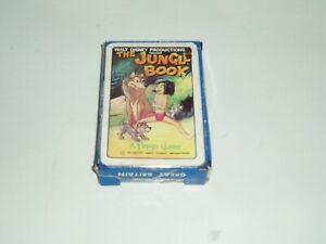 """Rare Vintage Walt Disney Productions """"The Jungle Book"""" card game by Pepys. 1966."""