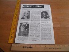 1979 Robot World Android Amusement Corp. advert magazine Michael Jackson V1 #2