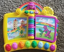Barney Musical Nursery Rhymes Toy Piano Book Electronic Interactive Mattel-EUC!!