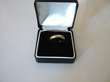 ELEGANT 14K GOLD PLATE WEDDING BAND OR STACKABLE STYLE RING SIZE 7 Signed ESPO