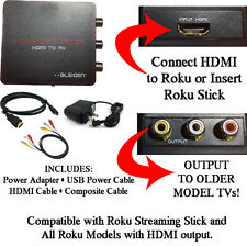 HDMI to 3RCA Composite AV Converter - Compatible with Roku Media Player