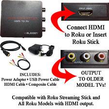 HDMI to 3RCA Composite AV Converter for Roku [Roku 2, Roku 3, Roku 4]