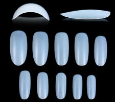 500xOval Nails Tips Round Full Cover False Nail Art Acrylic Fake