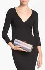 Jimmy Choo Charm Disco Mirror Iridescent Clutch Bag $1090