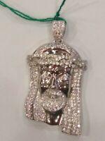 Anhänger Gesicht Von Christus Zirconate, aus Silber 925, Gramm 11,40, Neu