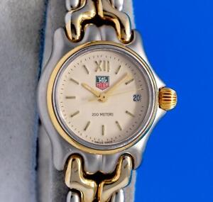 Ladies Tag Heuer Link SEL S/el 18K Gold plated & SS watch - Creme Dial