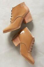 Rachel Comey Tan Ibex Lace-Up Patent Bootie 8.5 Nwob $426