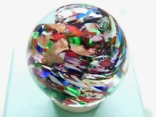 Beautiful Handmade Glass Marble 35mm diameter goldstone multi-coloured