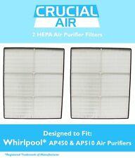 2 Whirlpool HEPA Air Purifier Filters Whispure AP450 AP510 1183054 1183054K