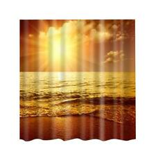 Home Decor Bathroom Water-resistant Shower Curtain with Hooks Sunrise