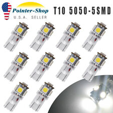 10PCS White 5 SMD T10 Wedge 168 194 2825 Interior LED Bulb License Plate Lights