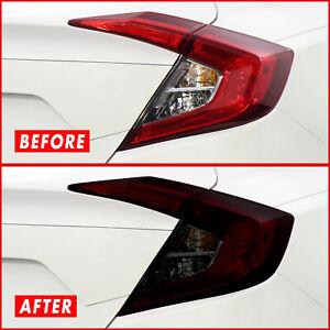 FOR 16-21 Honda Civic Sedan Tail Light & Reflector SMOKE Precut Vinyl Tint