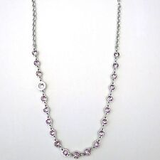 Rebecca Necklace with Small Lavender/Pink Crystals