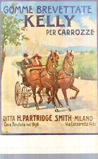 Ripr. Cartolina Tecnica Trasporti 1906 Gomme brevettate Kelly per carrozze