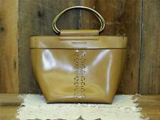 Mondani Hand Bag Women's Purse Faux Leather Sz Med D-Ring Handles Satchel camel