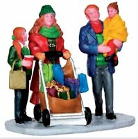 Christmas Shopping with Mom & Dad LEMAX Christmas Holiday Village Figurine