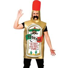 Mens Tequila Mexican Worm Bottle Stag Party Novelty Freshers Fancy Dress Costume