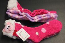 2 pair FASHION FUZZY SOFT  socks 9-11 SHOE 4 TO 9 Crew  VERY soft  CASUAL