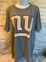 New York Giants NFL Mens Team Apparel Gray Short Sleeve T Shirt Size M [MQ2]