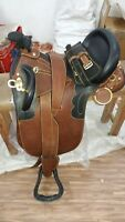 Australian stock leather saddle with full accessories in all size