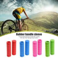 2xRubber MTB Road Bike Bicyce Handlebar Grips Anti-Skid Fixed Gear Bicycle Grips