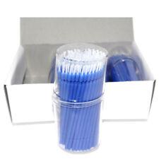 USA 100pcs Disposable Microbrush Swab Applicators Eyelash Extension Blue Color