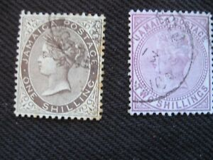 Jamaica:  1905-11 Queens Head Selection to 2/-Wmk MCCA, good used