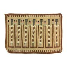 """c. 1940 Navajo Yei Rug with 7 Figures, 32"""" x 46"""""""