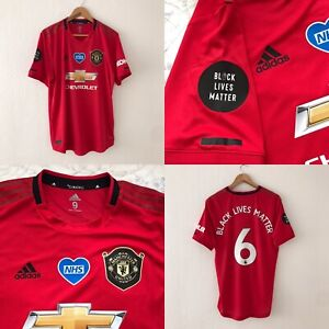 Manchester United Adidas Player Issue Match Issue Football Shirt Size 9 ,POGBA 6