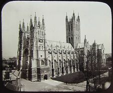 Glass Magic Lantern Slide Canterbury Cathedral No6 From Sw C1890 Photo England