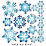 Peel and Stick Blue Snowflake Stickers Removable and Repositionable Wall Art