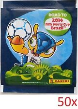 PANINI 2014 ROAD TO FIFA WORLD CUP BRAZIL OFFICIAL STICKERS 50 PACKETS NEW