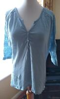 Phase Eight Baby Blue 100% Linen Top Size 16