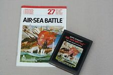 "Atari 2600 Vintage video game "" Air Sea Battle "" 1981 with intruction manual"