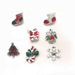7pcs Lots Mix Style Christmas 18mm Snaps Button For Ginger Snaps Jewelry