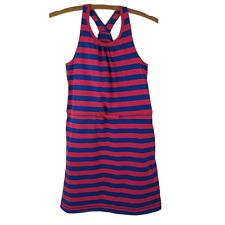 Patagonia Tidal Dress Girls Knit Stripe Organic Cotton Tank Large 12 Pockets