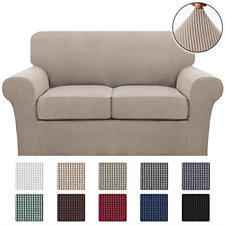 ?3 Piece Stretch Sofa Covers Loveseat for 2 Cushion Couch Covers Slipcovers