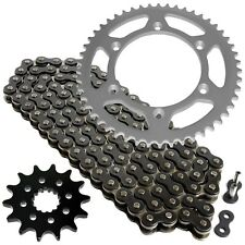 Black Drive Chain and Sprocket Kit Fits YAMAHA WR400F 1999 2000 2001